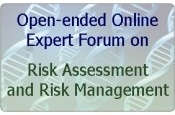 Open-ended Online Expert Forum on Risk Assessment and Risk Management
