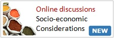Online discussions on Socio-Economic Considerations