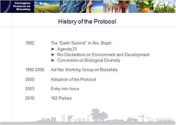 The Cartagena Protocol on Biosafety